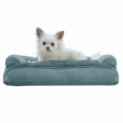 FurHaven Plush & Suede Pillow Sofa Dog Bed Deep Pool