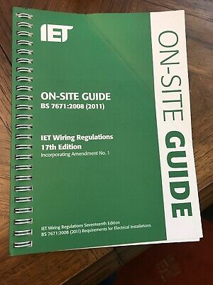 IET On Site Guide BS 7671:2008 (1:2011) 17th Edition