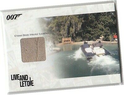 James Bond Heroes Villains - JBR7 Chase Boat Interior Leather Relic Card 293/444