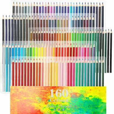160 Oily Art Coloured Pencils Set for Children & Adults Coloring Books Artwork