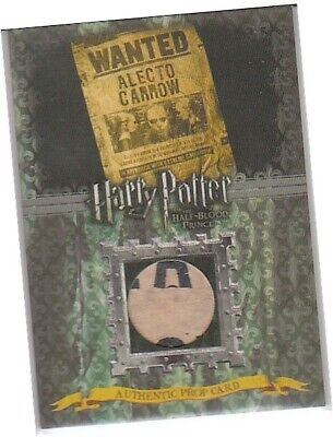 Harry Potter Half Blood Prince Update P12 Alecto Carrow Wanted Poster Prop Card