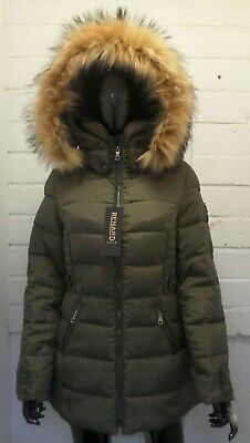 Women Ladies New Short Warm Padded like REAL FUR Hooded Puffer Coat/Jacket 17110