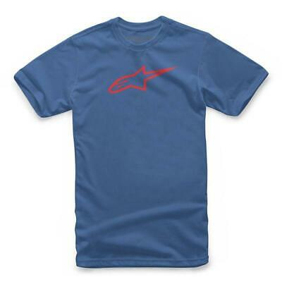 Alpinestars Blue/Red Casual Offroad Tshirt Ageless Mx Jersey