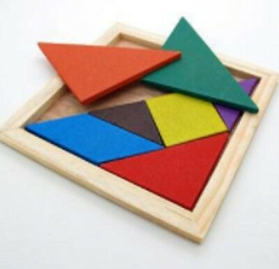Kids Boys Girls Wooden Tangram Puzzle Jigsaw Jig Saw Wood Toy Educational Toys A