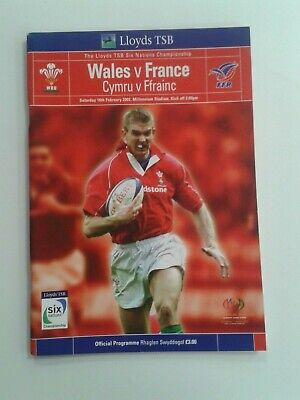 Wales v France Rugby Union Programme Six Nations 2002
