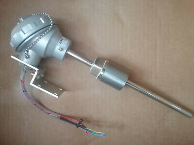 Pipe Temperature Transmitter 100ºC Thermocouple with Aluminium Connection Head