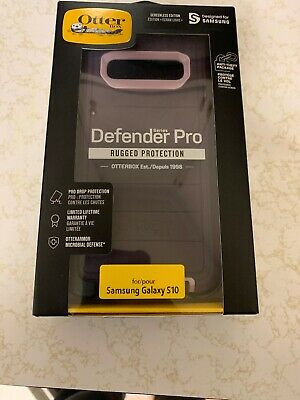 New Otterbox Defender PRO Case with Holster for Samsung Galaxy S10 Purple OP