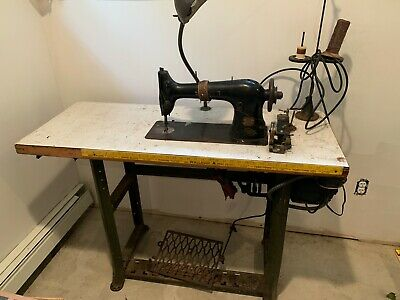 Singer Antique Sewing Machine, including table.