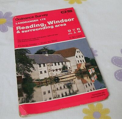 Ordnance Survey map, Landranger Series, No.175. Reading & Windsor.