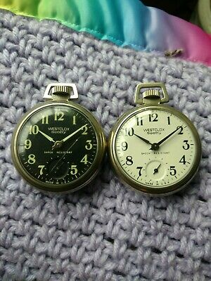 Westclox Scotty Pocket Watch Lot Black And White Versions