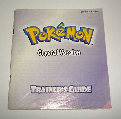 Pokemon: Crystal Trainer's Guide Manual Game Boy DMG-01