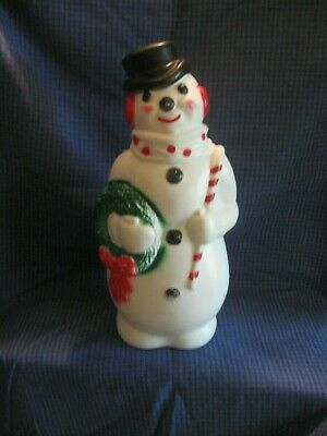 """Empire Snowman Vintage 13"""" BLOW MOLD 1968 Christmas Lighted USA Holiday"""
