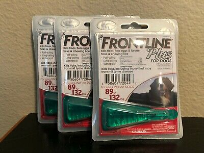 FRONTLINE Plus For Dogs 89 - 132 lbs lbs 3 pack