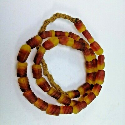 Roman Glass Beads Red Very Beautiful Ancient Necklace Afghan style