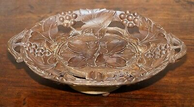 Stunning Musical Black Forest Wood Fruit Bowl With Leaves Etc Nicely Hand Carved