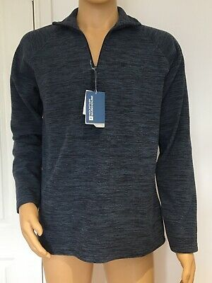 Mens Mountain Warehouse Snowdon Fleece Sweater-Navy Blue-Small-New With Tags