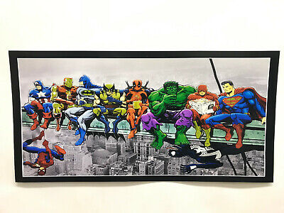 Marvel Heroes Lunch Atop a Skyscraper Paper Poster 20'' x 10''