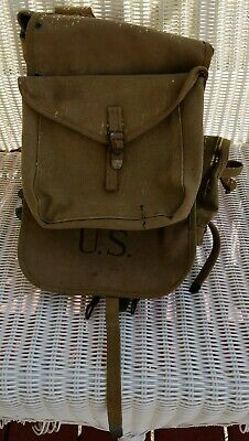 Original Wwii Us Army M-1928 Haversack Combat Field Pack Dated 1942.