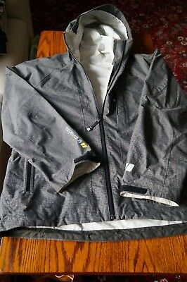 BERGHAUS Mens outershell jacket GREY large worn zipped with hood