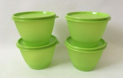NEW 2019 Tupperware Lime Green 13 Oz Refrigerator Bowls Set of 2 NIP BPA FREE!
