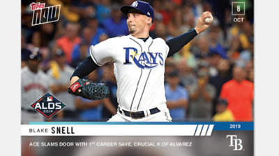 2019 Topps Now #986 Blake Snell Tampa Bay (Pre-Sale) Alds Game 4 (Pr 150)