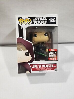 Funko Pop! Stars Wars # 126 Luke Skywalker 2017 Galactic Convention Exclusive