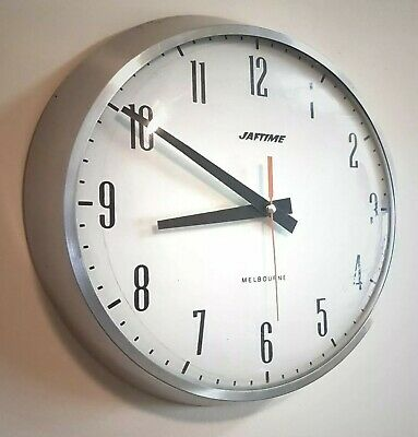 Large Vintage Mid Century Industrial Melbourne School Station Office Wall Clock