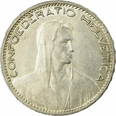 [#656874] Coin, Switzerland, 5 Francs, 1933, Bern, EF(40-45), Silver, KM:37