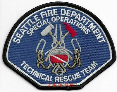 """*NEW* Seattle  Technical Rescue Team - Sp. Ops., WA (4.5"""" x 3.5"""")  fire patch"""