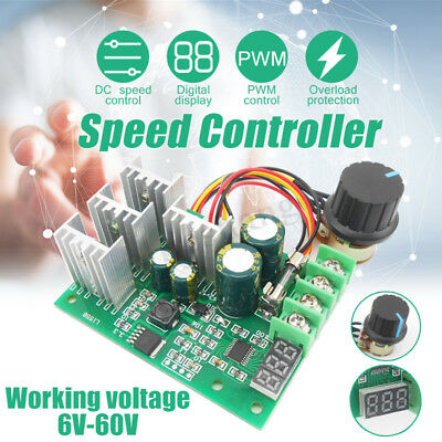 6V-60V 30A PWM DC Motor Speed Controller 0-100% Efficiency Digital Regulator