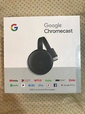 Google Chromecast 3rd Generation Streaming Media Player - Charcoal