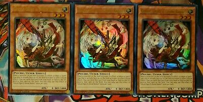 3x Ghost Ogre & Snow Rabbit 1st Edition Ultra Rare DUDE-EN001 Yu-Gi-Oh!