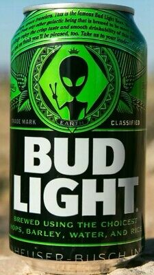Bud Light Area 51 Limited Edition Alien 👽 beer cans TWO cans