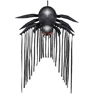 Halloween Door Archway Black Spider Haunted House  Inflatable Airblown 6.5 Ft