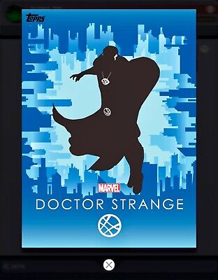 Topps MARVEL COLLECT DIGITAL Card HEROIC SILHOUETTES COMPOSITION DOCTOR STRANGE