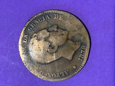 1879 Spain - 10 Centimos Alfonso Xii