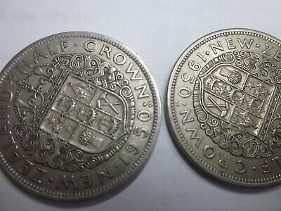 1950 Half Crowns (x2) Both Diamond Varieties