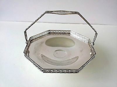 Antique Black starr and frost sterling silver Basket 3458 H 7 IN