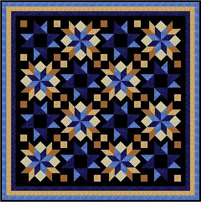 """DOOHICKEY - Black - 87"""" - Quilt-Addicts Pre-cut Patchwork Quilt Kit Queen"""