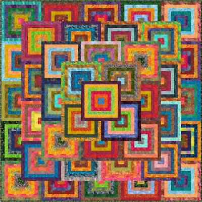 """KANAWA - 91"""" - Pre-cut Patchwork Quilt Kit by Quilt-Addicts Queen"""