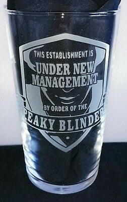 Engraved Peaky Blinders Pint Glass - New