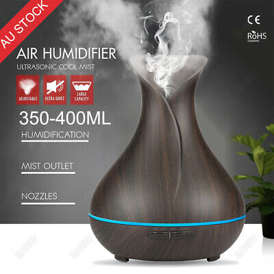 Aroma Diffuser LED Essential Oil Ultrasonic Air Humidifier Aromatherapy Purifier
