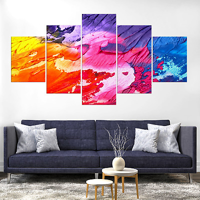 Abstract Colorful Canva Print Painting Framed Home Decor Wall Art Picture Poster