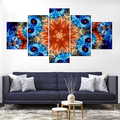 Kaleidoscope Alchemy Psychedelic Abstract Canva Print Painting Hom Deco Wall Art