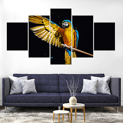 Parrot Macaw Bird Canvas Print Painting Frame Home Decor Wall Art Picture Poster