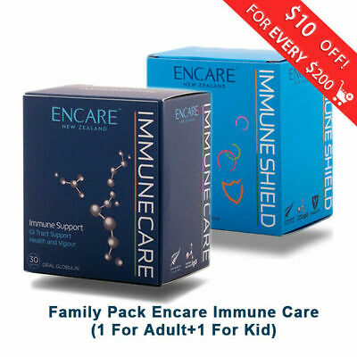 Family Pack New Zealand Alpha Group Encare ImmuneCare Shield For Adults/Kids