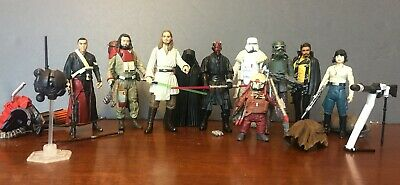 Star Wars action figure lot - Darth Maul, troopers, more