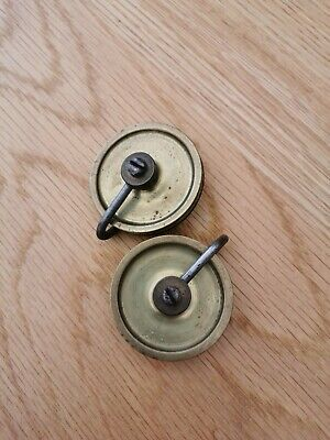Pair Of Longcase / Grandfather Clock Weight Pulleys