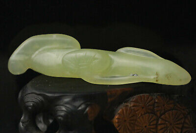 Old Chinese natural jade hand-carved ruyi pendant