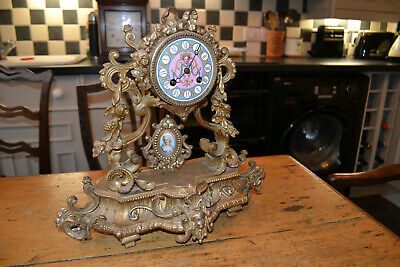 19c french ormolu clock by marti for restoration